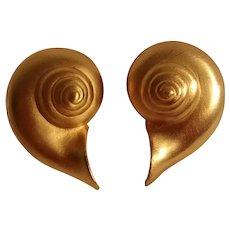 MFA Museum Fine Arts shell clip earrings