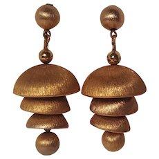Napier temple bells chandelier earrings Anne Fogerty design