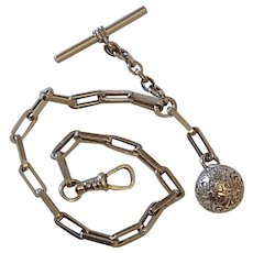OMD Oscar Drape watch chain and orb ball fob charm