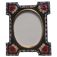 Italian mosaic picture frame easel back