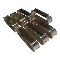 7 Gorham sterling silver napkin rings oblong 6290/1