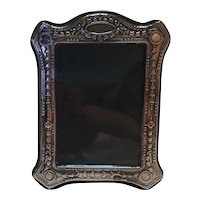 Sterling silver repousse picture frame England