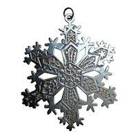 1971 MMA sterling silver Christmas tree ornament snowflake