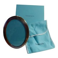 Tiffany & Co sterling silver oval easel frame in original box