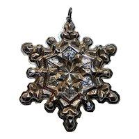 Gorham sterling silver ornament 1971 snowflake pendant