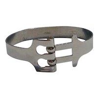 Danecraft sterling silver Modernist bracelet oblong bangle