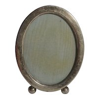 Webster sterling silver ball footed easel picture frame oval