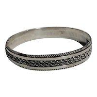 Tahe sterling silver bangle bracelet Navajo