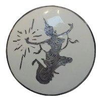 Siam sterling enamel pin Mekkala lightening goddess