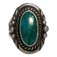 Wes Willie Navajo sterling silver turquoise ring