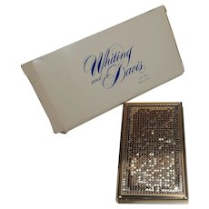 Whiting Davis mesh notebook cover desk accessory