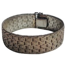 Sterling silver Riccio bracelet woven Italy