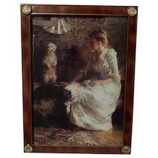TERRIER DOG English Brass Picture Frame