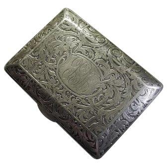 KERR Sterling Card Case 88 grams ca. 1900