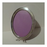 """STERLING Oval Footed Picture Frame   6 7/8"""" High"""