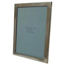 TIFFANY & Co. Makers Horizontal/Vertical Sterling Picture Frame