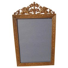 """FRENCH BRONZE """"Winged Lion"""" Antique Picture Frame"""