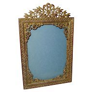 "Antique FRENCH BRONZE Ornate Frame 7 3/8"" Tall"