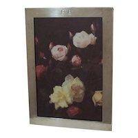 STERLING Vintage  Picture Frame  Graff, Washbourne & Dunn mono. PB