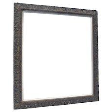 "AESTHETIC Movement 38 1/4"" x  43"" Ornate Frame 1870s"