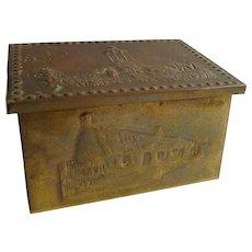 Miniature English HAMMERED Brass Box