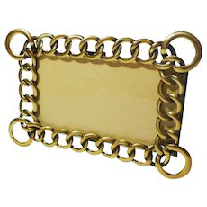 Horizontal Vertical D.R.G.M. Brass Ring Frame 1890s