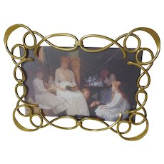 Brass Loop Curl Horizontal Vertical D.R.G.M. Picture Frame