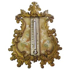 Brass and Celluloid Thermometer ca. 1900