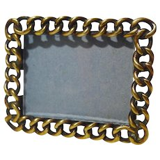 Tiny Horizontal Brass Ring Frame 1880-1900