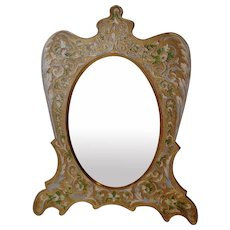 French Gold-Plated Enamel Picture Frame