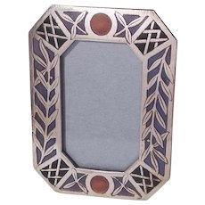 MINIATURE Multi Color Enamel Picture Frame