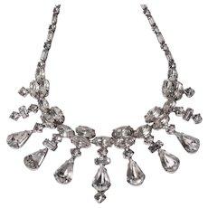 WEISS Retro Rhinestone Choker Necklace