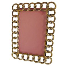 English Brass RING  CDV Picture Frame