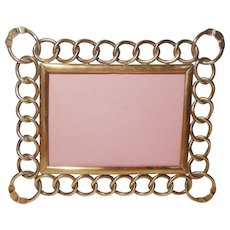 Brass Ring Picture Frame Horizontal Vertical D.R.G.M. 1890s