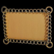 D.R.G.M. Horizontal Vertical Brass Ring Picture Frame Larger Corner Rings