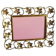 Brass Leaves Horizontal Picture Frame
