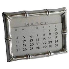 TIFFANY Sterling Bamboo Calendar Frame