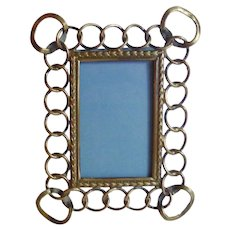 Miniature Brass Ring Picture Frame D.R.G.M.