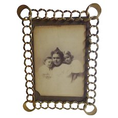 Brass Patterned RING Picture Frame Larger Corners