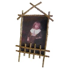 Brass BAMBOO Aesthetic Movement Picture Frame