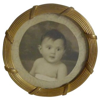 FRENCH BRONZE Miniature Round Picture Frame