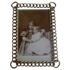 Brass RING Antique Picture Frame larger Corners