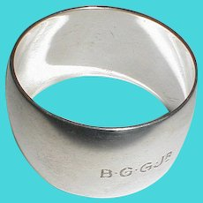 Tiffany & Co. MAKERS Sterling Napkin Ring 1907-38