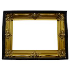 American GILDED Shadowbox Frame circa 1900 Large Size