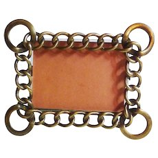 Miniature D.R.G.M. Horizontal Brass Ring Picture Frame