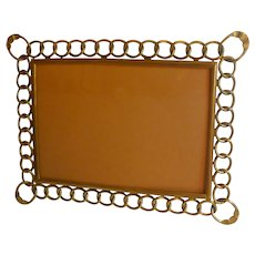 BRASS D.R.G.M. Horizontal Vertical Ring Picture Frame 10x13