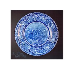 Staffordshire Commemorative Plate - Molly Pitcher - Early