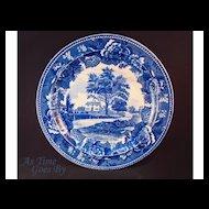 Staffordshire Commemorative Plate - Whittier's Birthplace