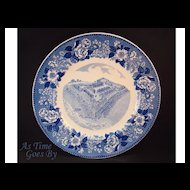 Staffordshire Commemorative Plate -Fort William Henry, Lake George, New York
