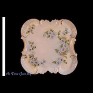 Hand Painted Blue Floral Dresser Tray